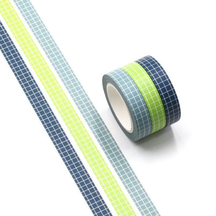 10mm x 3Rolls Check Pattern Washi Tape