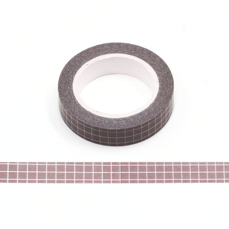 10mm Brown Grid Washi Tape