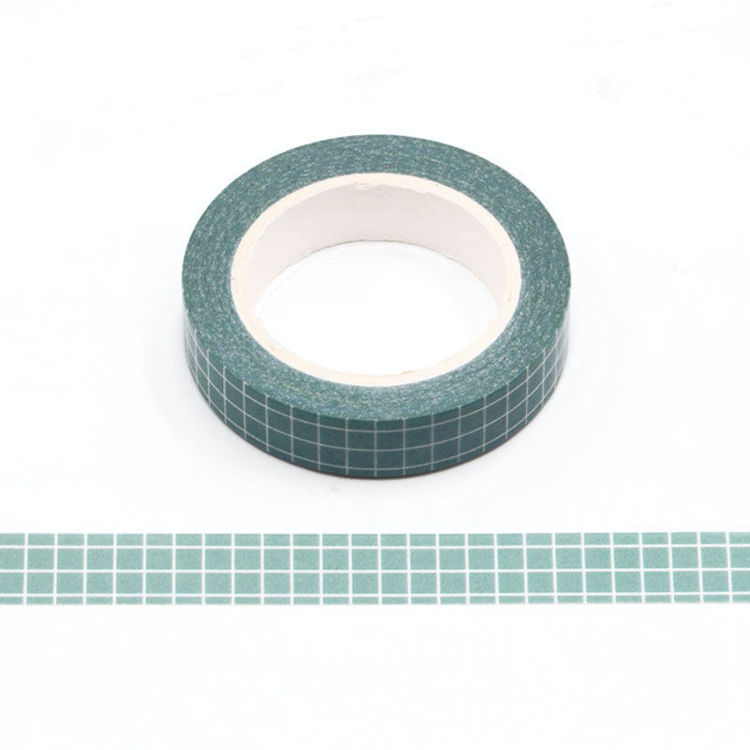 10mm Marca Green Grid Washi Tape
