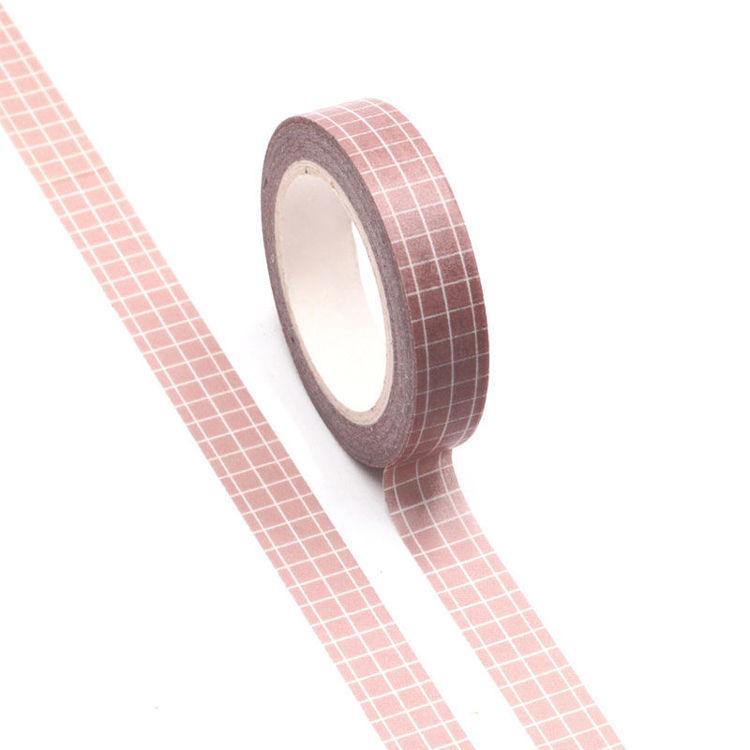 10mm Pink plaid Washi Tape