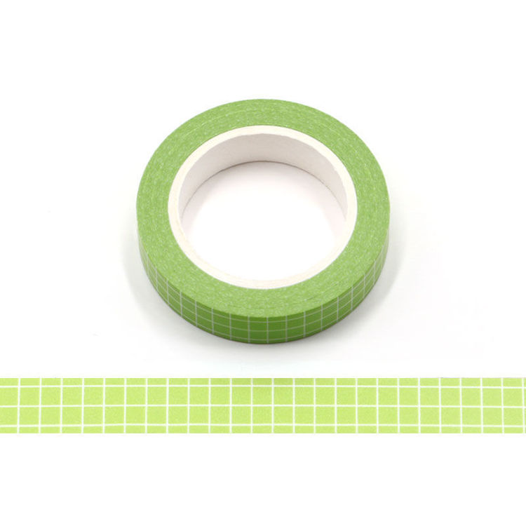 10mm Light Green PMS Grid Washi Tape