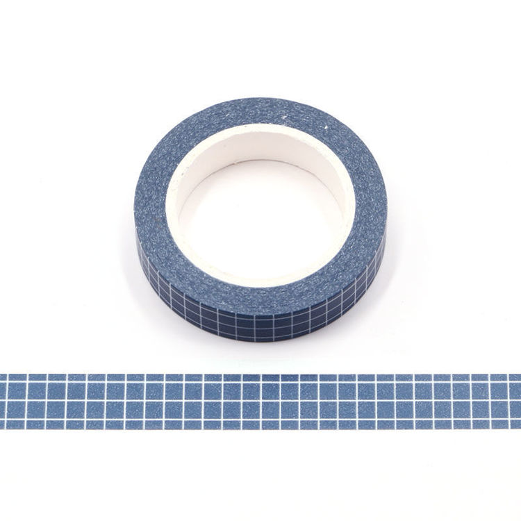 10mm Dark Blue PMS Lattice Washi Tape
