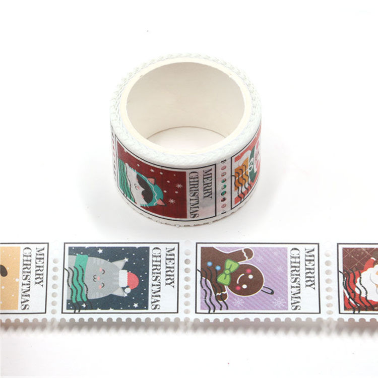25mm x 3m Christmas Elements Design Stamp Washi Tape