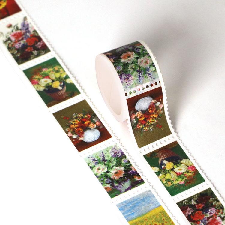25mm x 3m Flower Ink Design Stamp Washi Tape