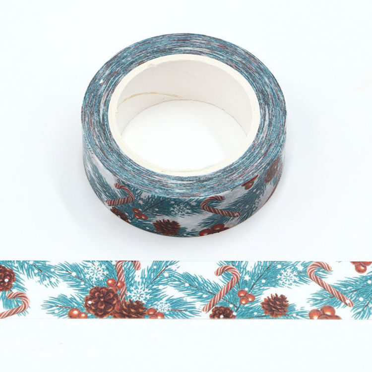 15mm x 10m CMYK Pine Needles And Candy Washi Tape