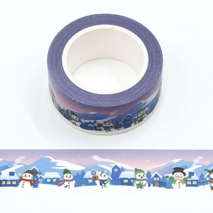 20mm x 10m CMYK Snowman Washi Tape