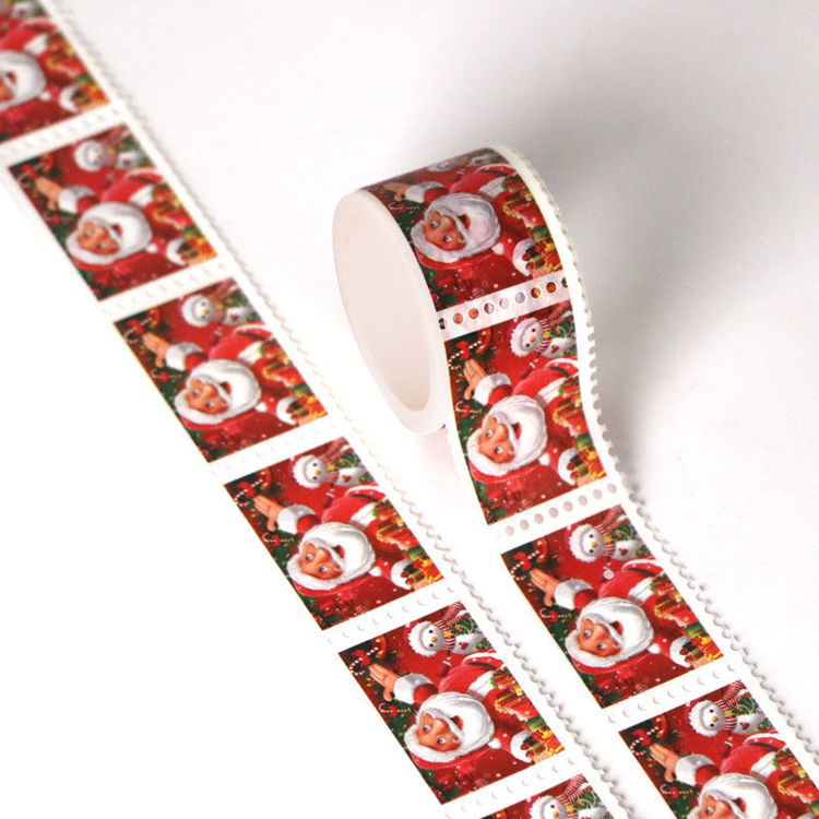 Picture of 25mm x 3m Santa Claus Design Stamp Washi Tape