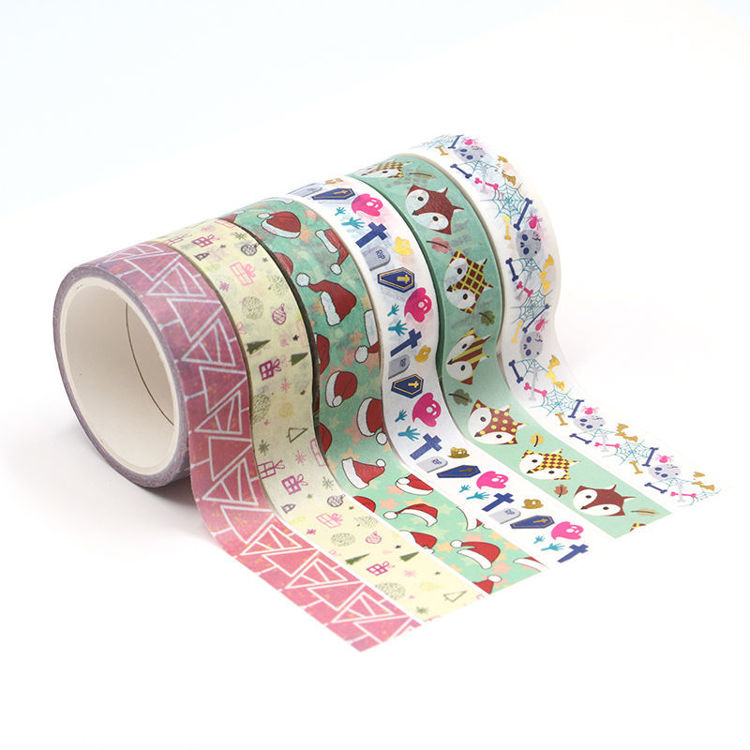 15mm x 5m 6Roll 1set Washi Tape