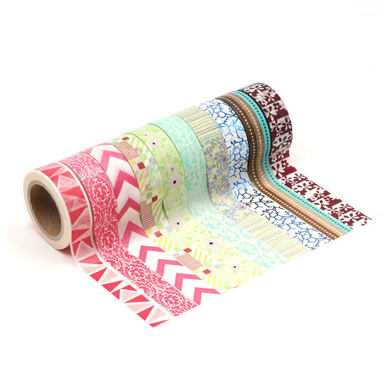 15mm x 10m 10Rolls 1set Washi Tape