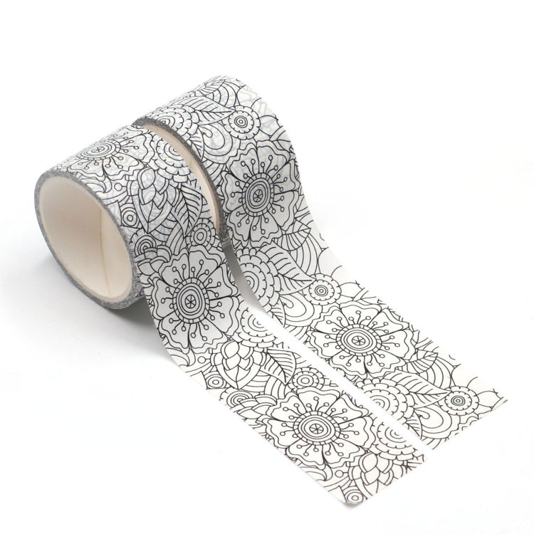 Coloring floral tape kit