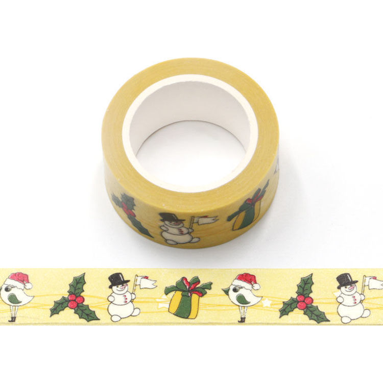 20mm x 10m CMYK Christmas Snowman Washi Tape