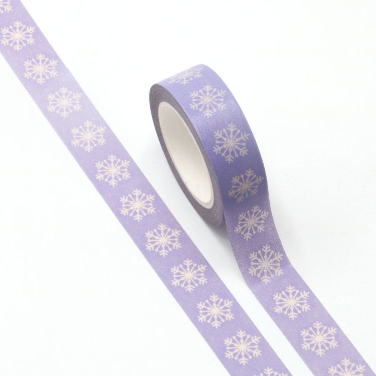 15mm x 10m CMYK Christmas Snowflake Washi Tape