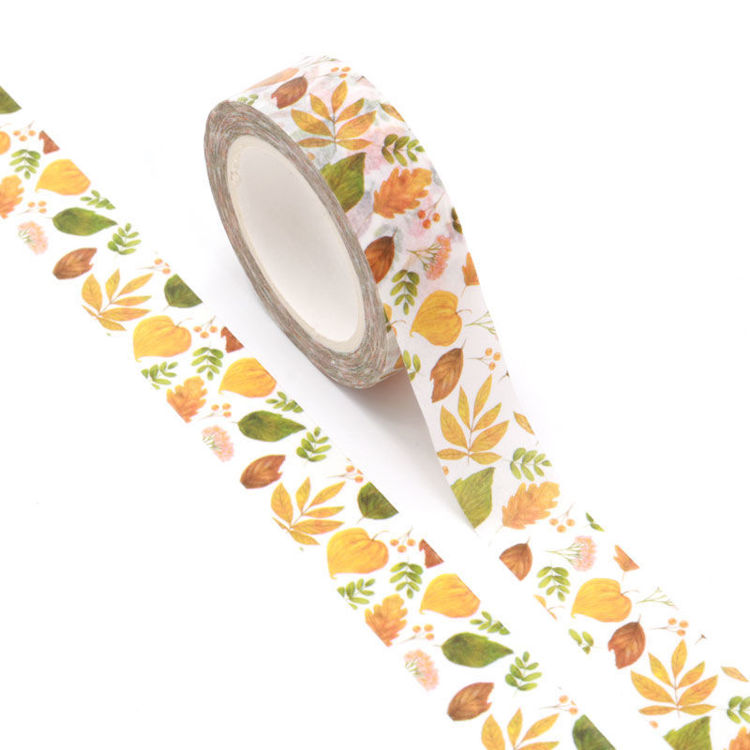 15mm x 10m CMYK Autumn Leaves Washi Tape