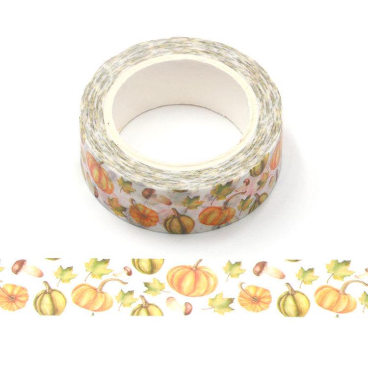 15mm x 10m CMYK Pumpkin Washi Tape