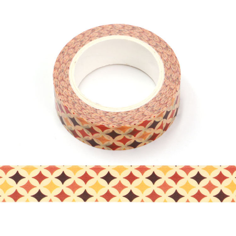 15mm x 10m CMYK Star Patten Washi Tape