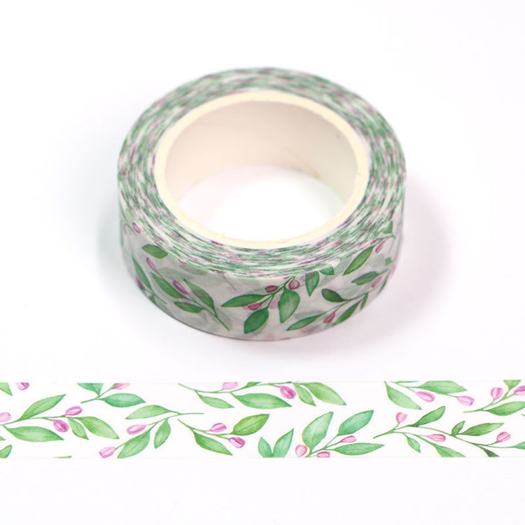15mm x 10m CMYK Watercolor Leaf Washi Tape