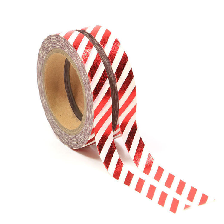 8mm x 10m 2Rolls Red Stripe Washi Tape