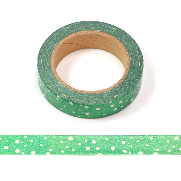 10mm x 10m Green Point Washi Tape