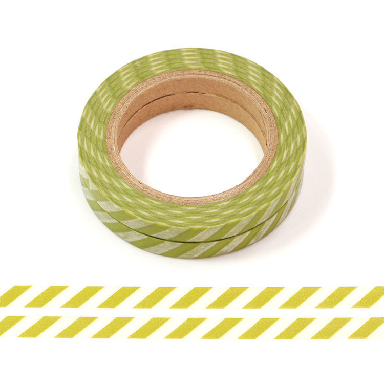 5mm x 10m 2rolls Green Stripes Washi Tape