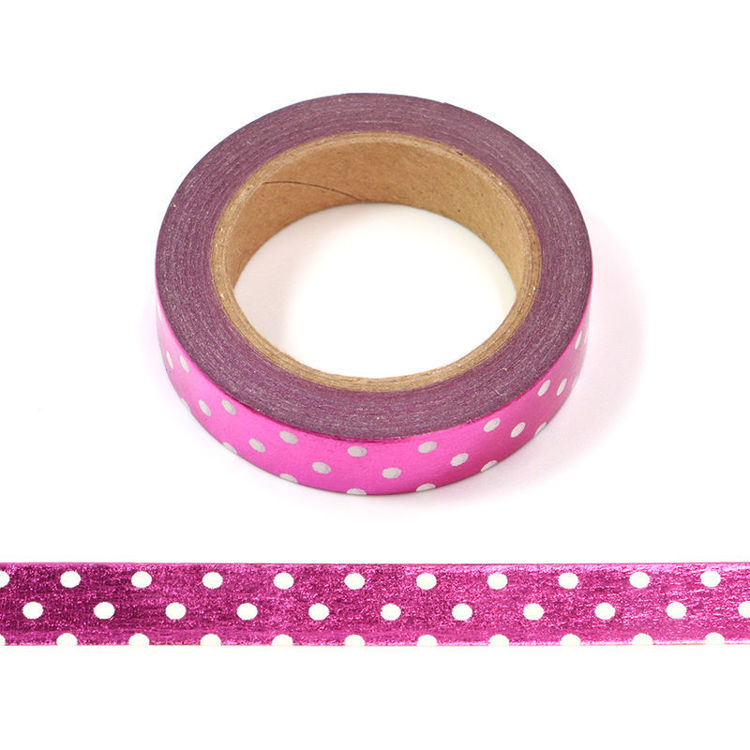 10mm x 10m Rose Pink Point Washi Tape