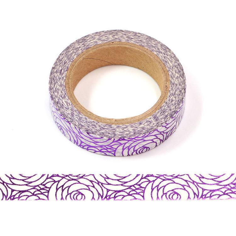 10mm x 10m Purple Rose Washi Tape