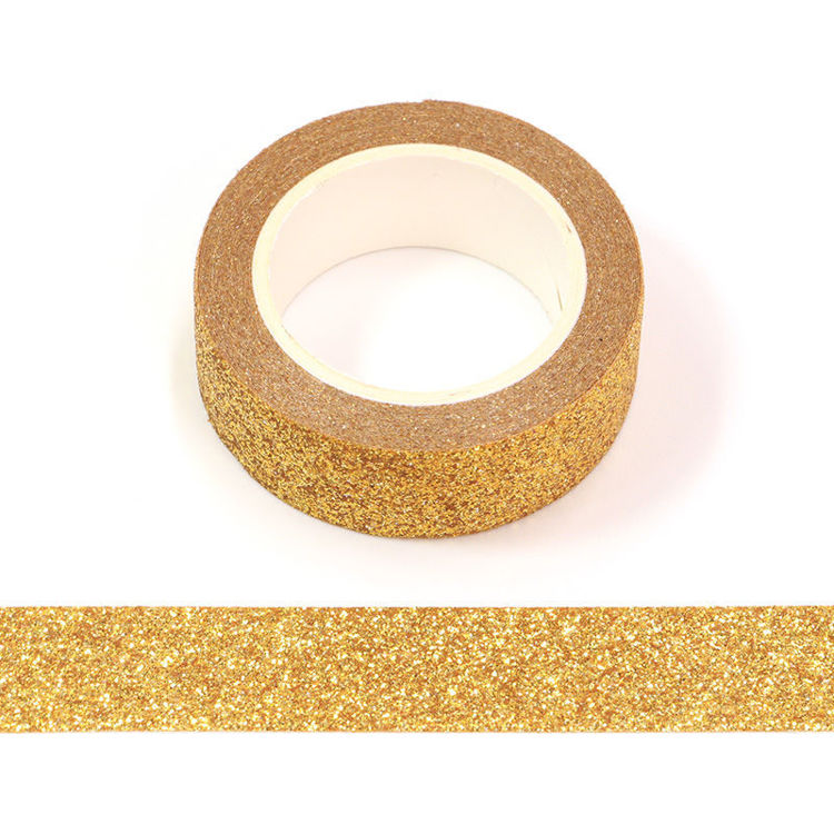 15mm x 3m Gold Powder Washi Tape