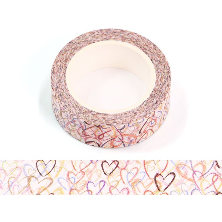 15mm x 10m CMYK Crayon Love Washi Tape