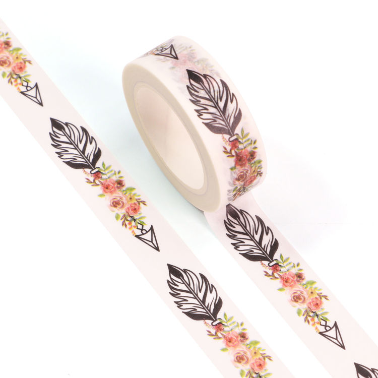 15mm x 10m CMYK Flower And Arrow Washi Tape