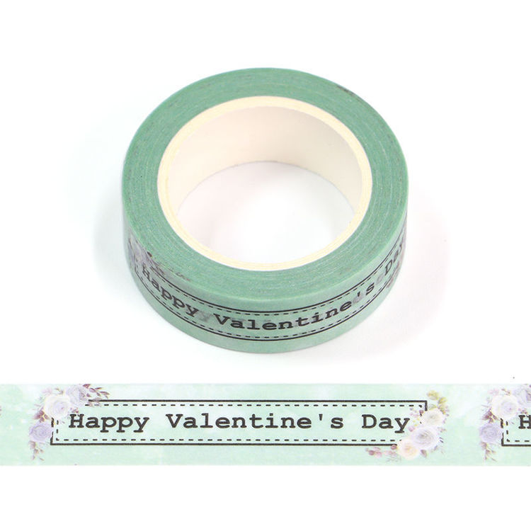 15mm x 10m CMYK Happy Valentine's Day Washi Tape
