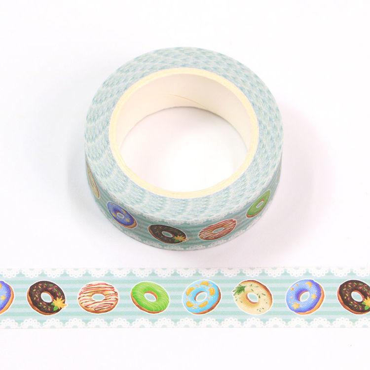 15mm x 10m CMYK Donuts Washi Tape