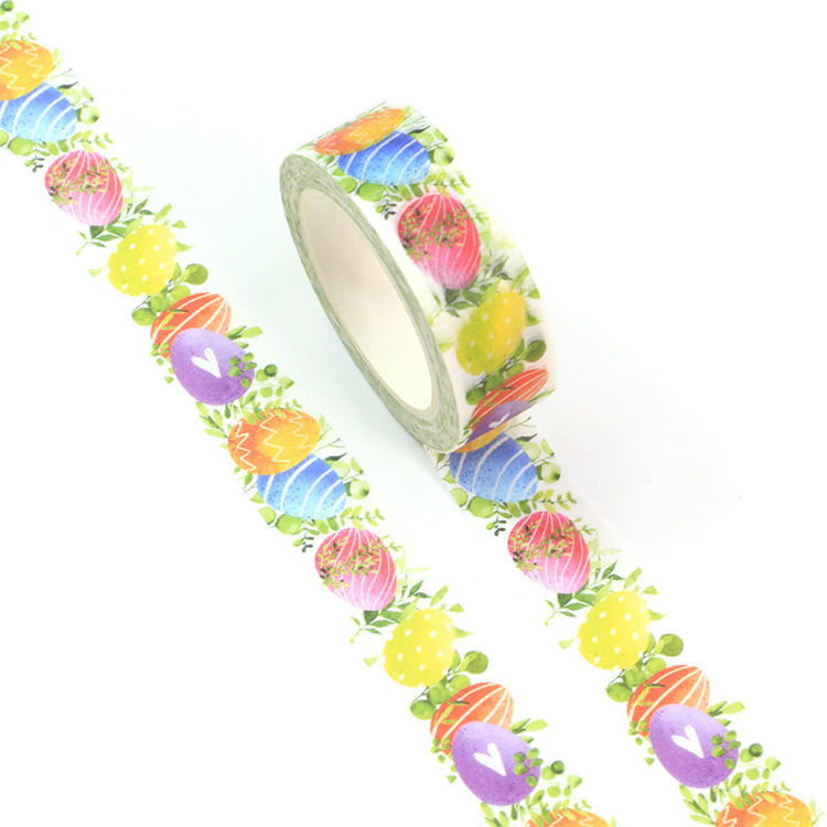 15mm x 10m CMYK Watercolor Easter Egg Washi Tape