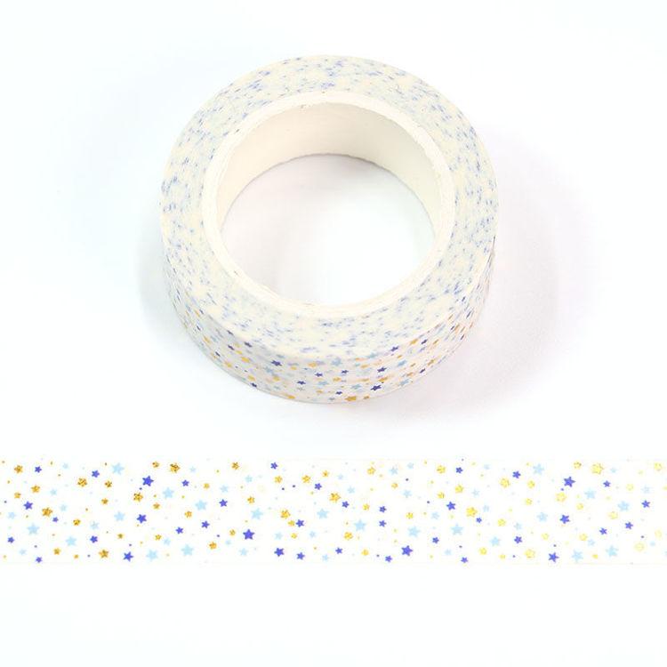 15mm x 10m CMYK Star Washi Tape