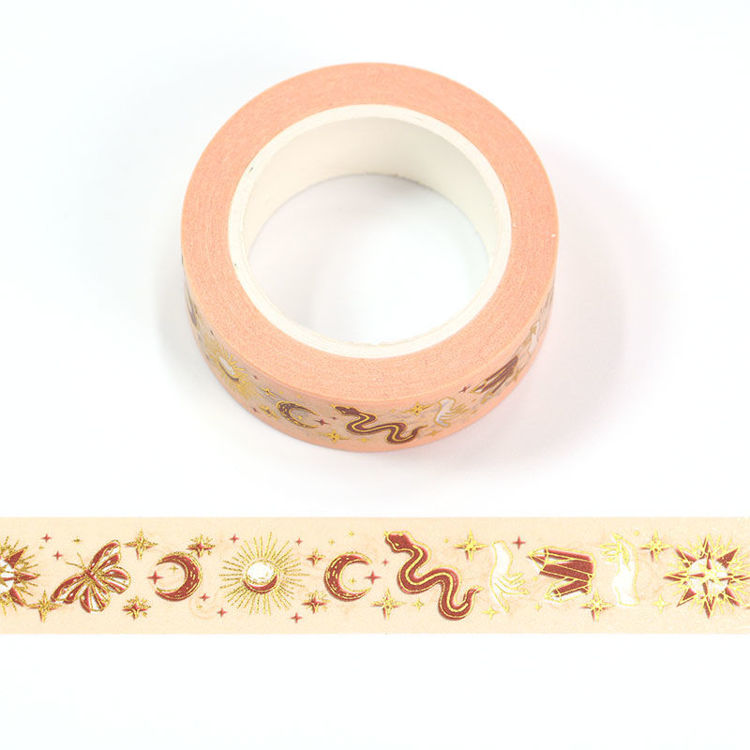 15mm x 10m CMYK+Foil Tarot Elements Washi Tape