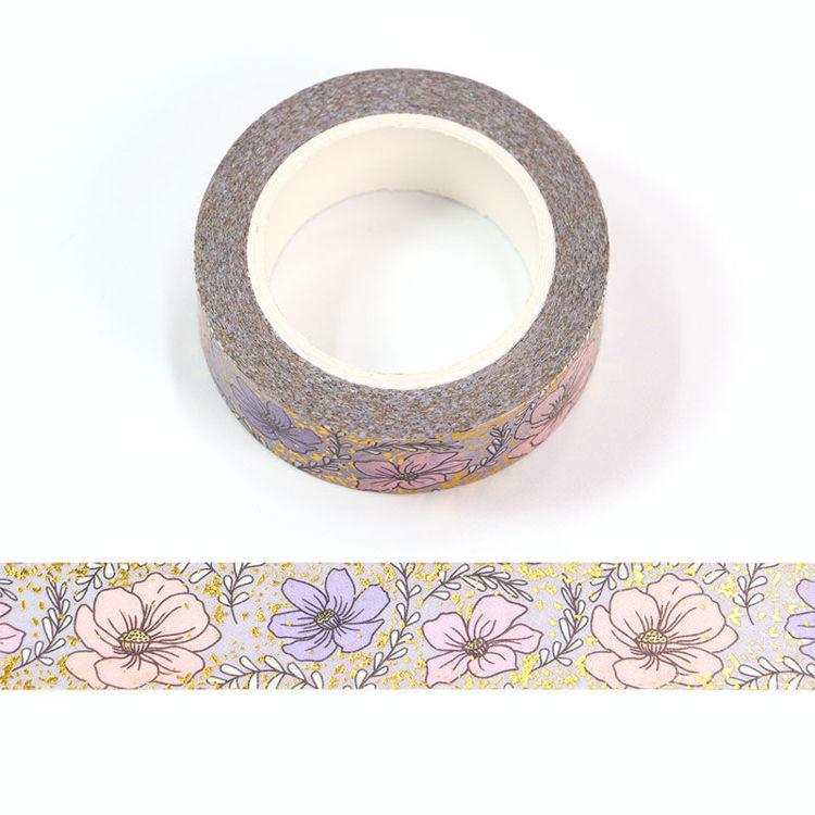 15mm x 10m CMYK+Foil Little Daisy Washi Tape