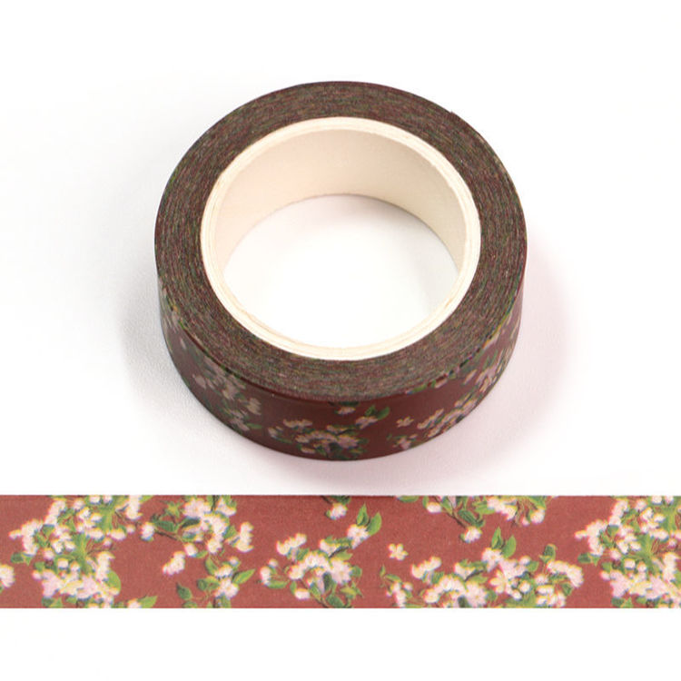 15mm x 10m CMYK Ancient Flower Washi Tape