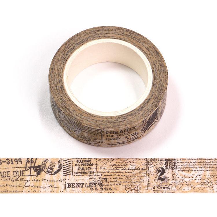 15mm x 10m CMYK Postmark Washi Tape