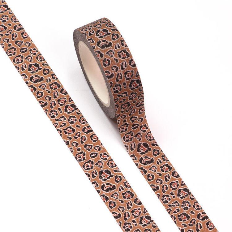 15mm x 5m CMYK+Laminated Leopard Grain Washi Tape