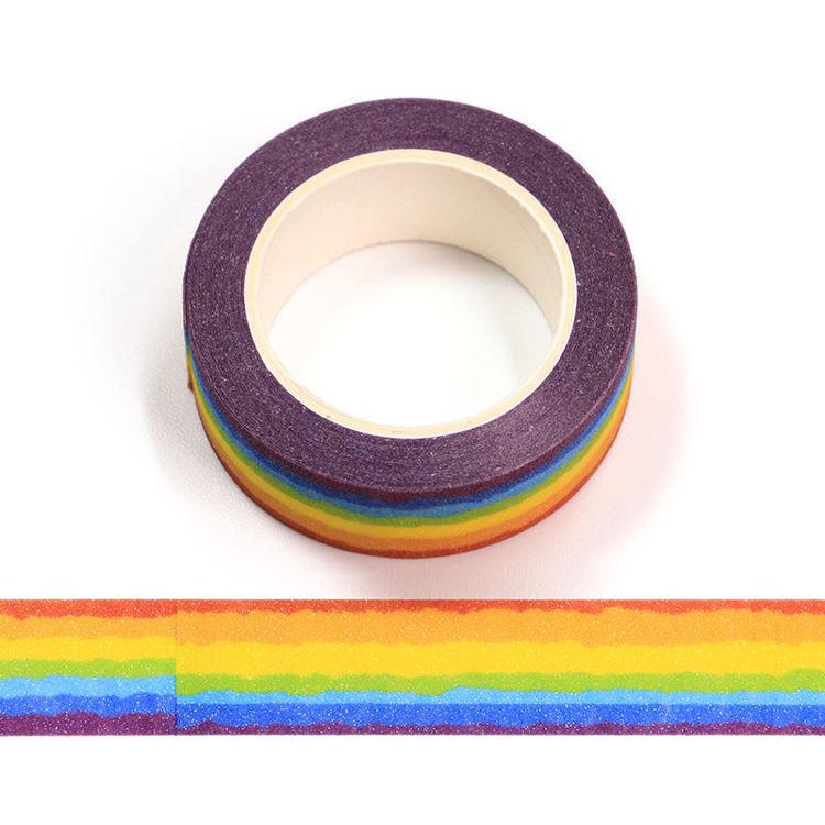 15mm x 5m CMYK+Laminated Rainbow Washi Tape