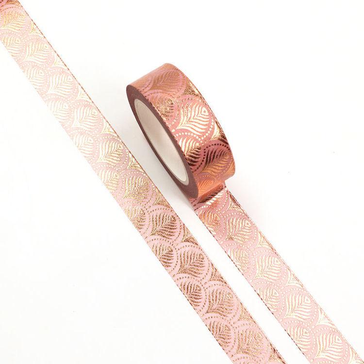 15mm x 10m Gold Foil CMYK Fan Shape Washi Tape