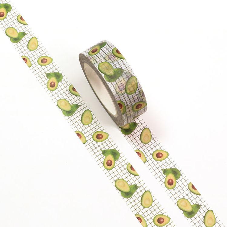 15mm x 10m CMYK Avocado Washi Tape