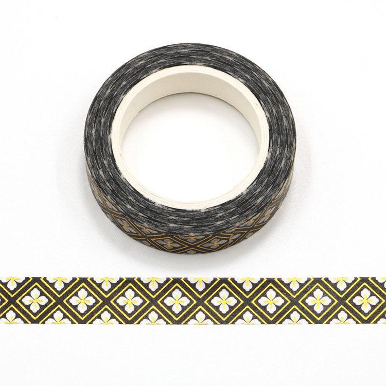 10mm x 10m Gold Foil CMYK Japanese Design Washi Tape