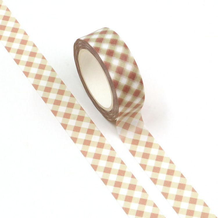 15mm x 10m CMYK Pink Grid Washi Tape