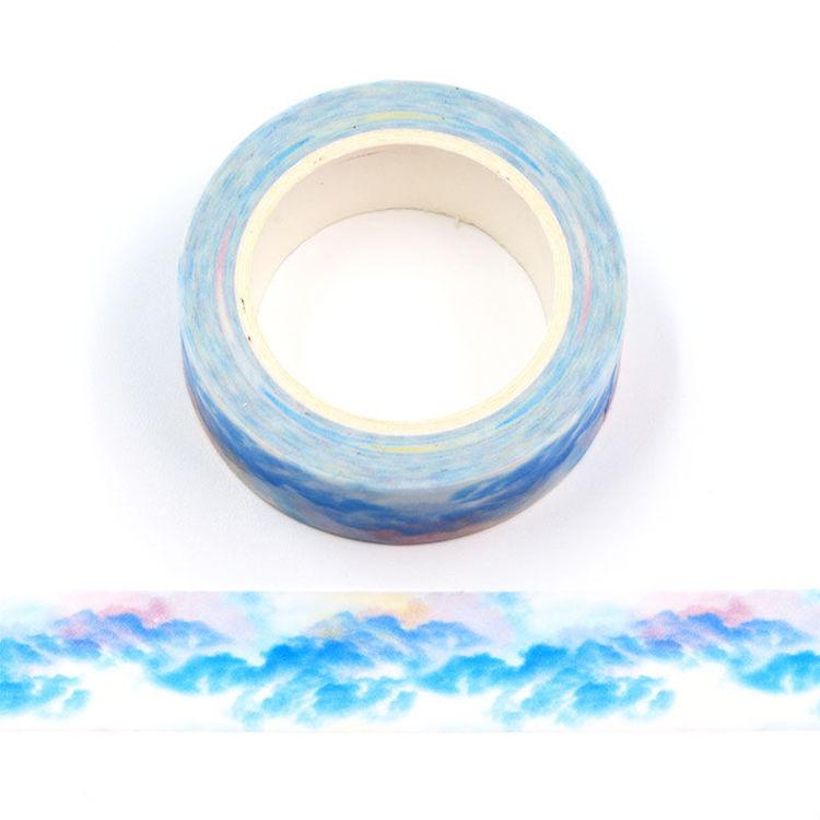 15mm x 10m CMYK Cloud Washi Tape