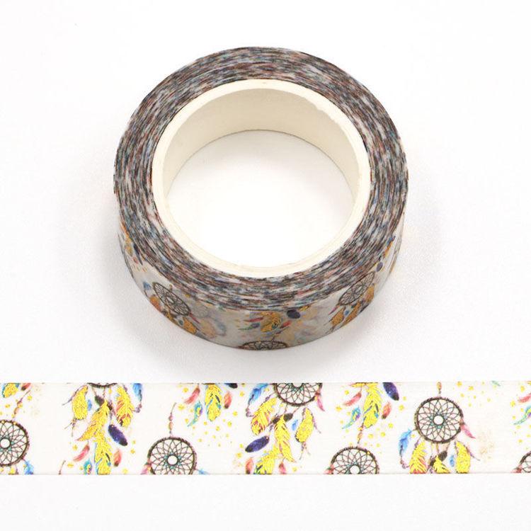 15mm x 10m Gold Foil CMYK Catch Dream Net Washi Tape