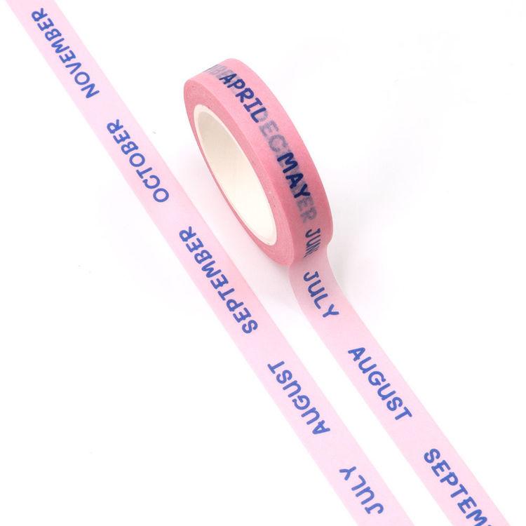 10mm x 10m CMYK Month Washi Tape