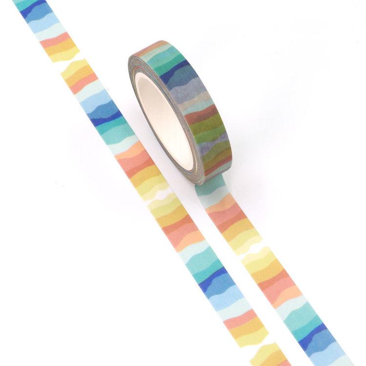10mm x 10m CMYK Chromatic Stripe Washi Tape