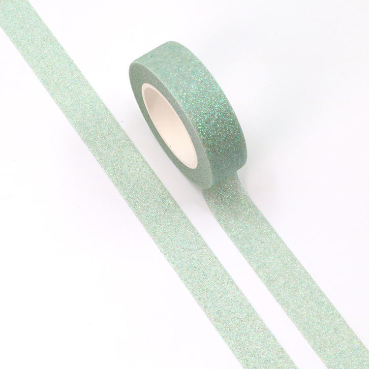 Pink Green Sparkle Washi Tape