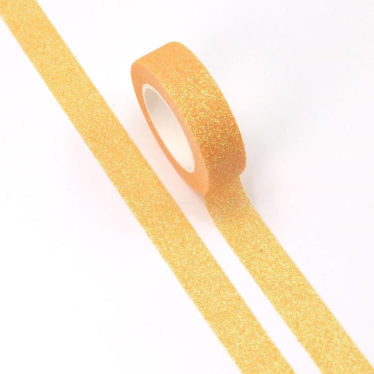 15mm x 5m Yellow Sparkle Washi Tape