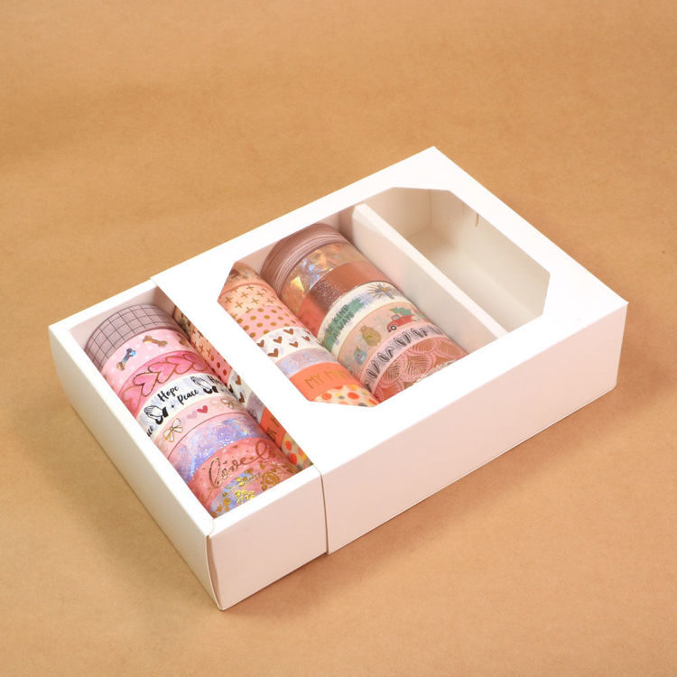 24 rolls white washi tape package