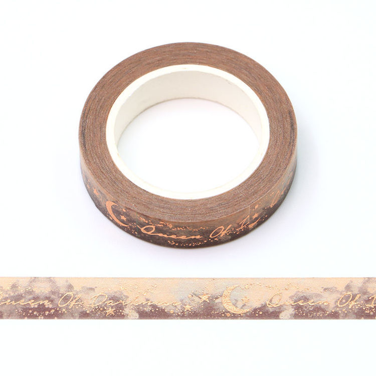10mm x 10m gold Foil CMYK black queen Washi Tape